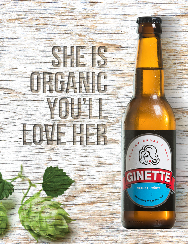 GINETTE BELGIAN ORGANIC BEER BLANCHE 24X33CL