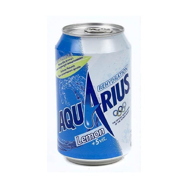 AQUARIUS LEMON 33cl (cans)