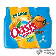 OASIS ORANGE POCKET 24x25cl