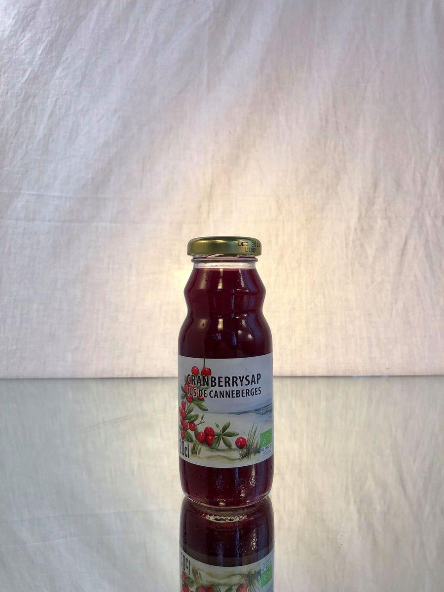 DE DRIE WILGEN (jus BIO) Pommes - Canneberges  24x20CL