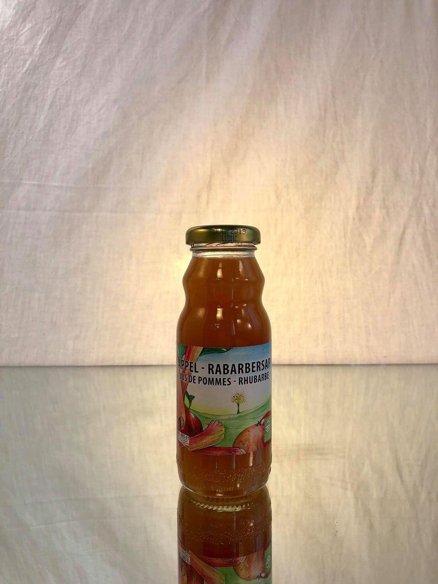 DE DRIE WILGEN (jus BIO) Pommes - Rhubarbe  24x20CL