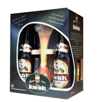 KWAK CONTAINER 4X 33CL + GLAS+HOUDER