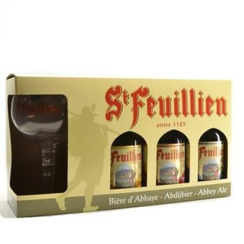 ST FEUILLIEN COFFRET 3 X 33 CL + 1 VERRE