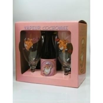 COFFRET COCHONETTE 4X33CL +2 VERRES